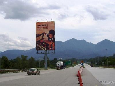 Outdoor Advertising Column Or Unipole Billboard Display