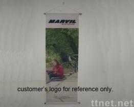 Adverterend Banner - met Houten Polen