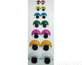 Runde bewegliche Augen mit gedrucktem Eyeslash