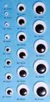 Runde bewegliche Augen