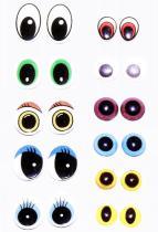 Kristallaugen und gedruckte Augen