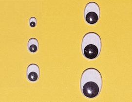 Ovale bewegliche Augen