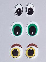 Plastik gedruckte Augen
