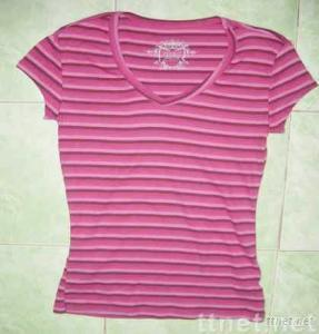 Stock Garment Ladies Stripe T-shirt