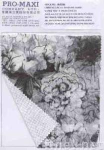 Stock Fabric CVC 1 x 1 Rib Print