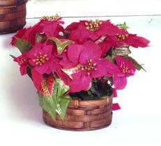 Flor artificial para la Navidad