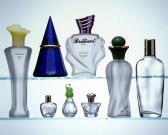 De lege Fles van het Glas voor Parfum