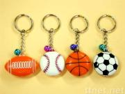 Keychain with Flat Style Ball