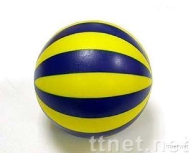 Striped Foam Basketball