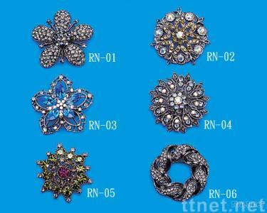 Casting Brooch with Rhinestone