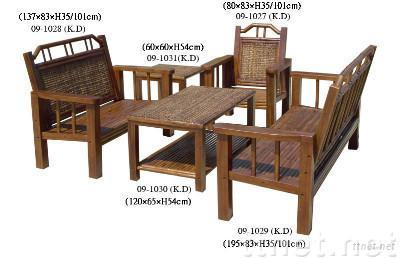 Banana Bone Bamboo Tables & Chairs Set