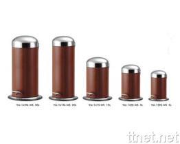 Holz Veins Abfall-Pedal-Sortierfach