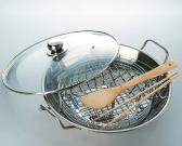 5-piece Stainless Steel Wok Set