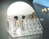 Cosmetic Organizer w/Half Circle Mirror