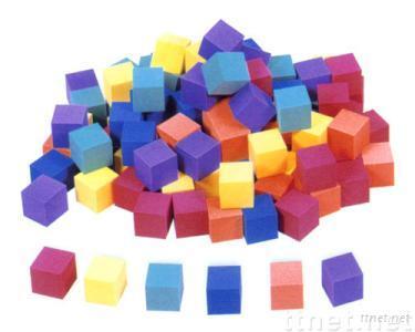 EVA foam 100-piece Color Cube blocks