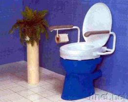 De Zetel van het toilet met Armsteun