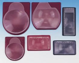 平らなプラスチック拡大鏡