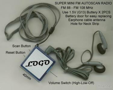 Super Mini FM Auto Scan Radio