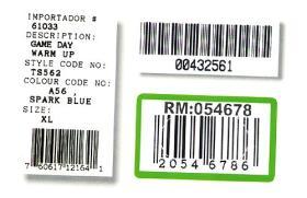 Etiqueta de código de barras