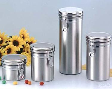 Stainless Steel Airtight Canister (Stainless Steel Cap)