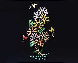 [ل] [برينتمب] [كلورد] الحافز في زهرة مع فراشة تصميم
