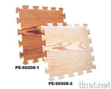 PE Eco Friendly Interlocking Wood Pattern Puzzle Mat