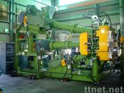 Triplex extruderfor tire tread & side-wall extrusion