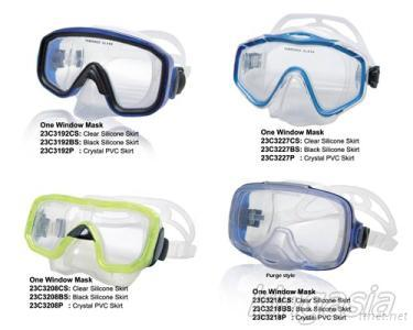 One Windows Diving Mask