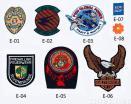 刺繍された紋章
