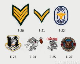 Gestickte Embleme