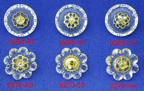 Botones de la combinación del acrílico/del metal
