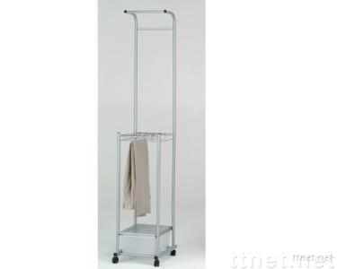 Trouser & Clothes Hanger with 1 Storage Cabinet