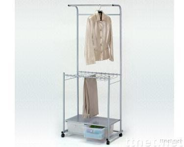 Trouser & Clothes Hanger with 2 Drawers
