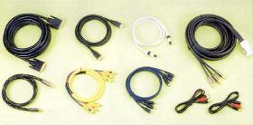 Assembled A/V and HDMI/DVI Cables