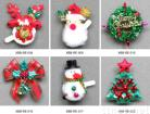 Christmas Two Lamp Electron Brooches