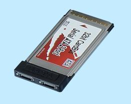 Un adattatore Port di 2 SATA CardBus