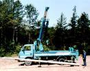 密集したトラックによって取付けられるクレーン