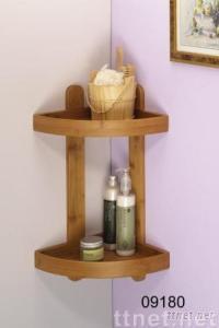 Bamboo Shower Corner Caddy