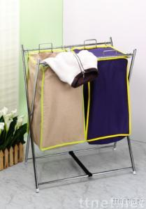 Double T/C Laundry Bag Stand
