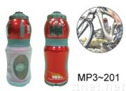 MP3 Bicycle Water Bottles