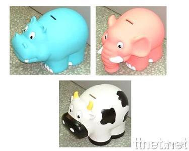 Piggy Bank (Cow, Elephant, Hippo)