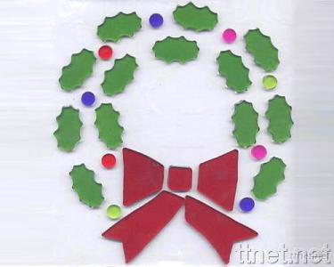Poinsettia Ring Window Decoration