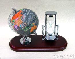 Globe/Sand Clock Desk Set