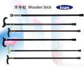 나무로 되는 지팡이
