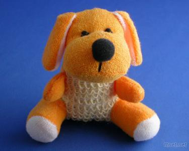 Dog Bath Sponge with Sisal Body