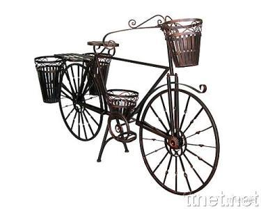 Metal Bicycle Planter With Bike Planter Garden