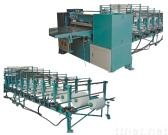 Pleating machine for filter material The machine performs for one layer