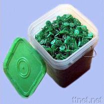 Pregos plásticos do tampão
