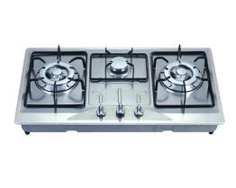 Het ingebouwde/Ingebedde Kooktoestel van het Gas van de drievoudig-Brander