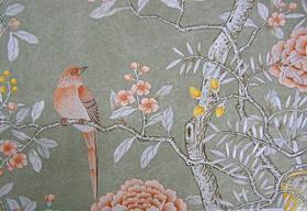 Papier peint peint à la main en soie chinois, Chine/Taiwan Papier ...